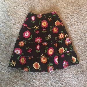 Girls flower skirt